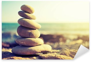 concept of balance and harmony. rocks on the coast of the Sea Sticker - Pixerstick