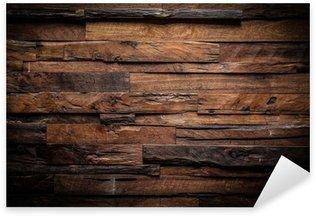 Sticker Pixerstick Conception de fond sombre de bois