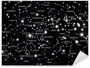 Sticker Pixerstick Constellations célèbres et des étoiles dans le ciel nocturne