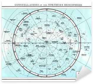 Constellations of the northern Hemisphere circa 1895 Sticker - Pixerstick