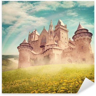 Sticker Pixerstick Conte de fées château de princesse