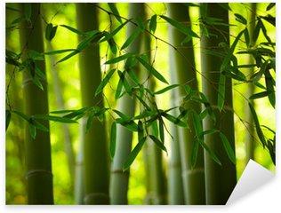 Sticker Pixerstick Contexte Bamboo Forest