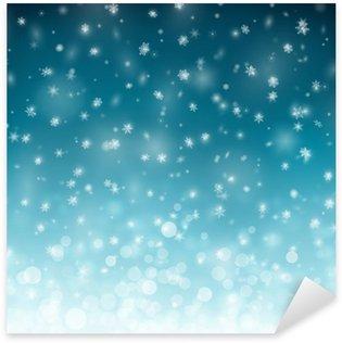 Sticker Pixerstick Contexte d'hiver