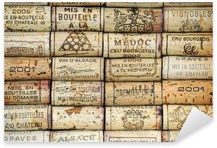 Sticker Pixerstick Contexte de bouchons de vin