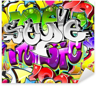 Sticker Pixerstick Contexte Graffiti Art urbain. Conception sans couture