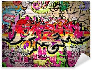 Sticker Pixerstick Contexte Graffiti Art Vecteur