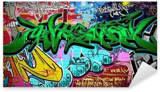 Sticker Pixerstick Contexte Vector Graffiti Art. Urban mur