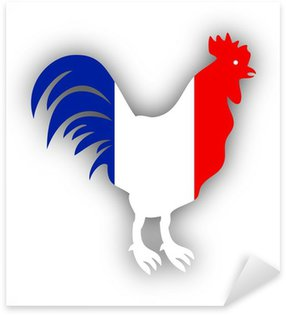 Sticker Pixerstick Coq gaulois