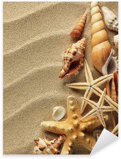 Sticker Pixerstick Coquillage sur le sable