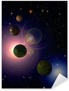 Cosmic sky with planets Sticker - Pixerstick