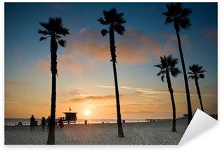 Sticker Pixerstick Coucher de soleil à Venice Beach, Los Angeles