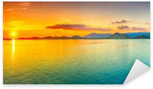 Sticker Pixerstick Coucher de soleil panorama