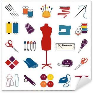 Sticker Pixerstick Couture, la couture icônes, multicolore, motif de frontière
