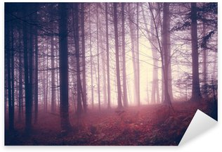 Sticker - Pixerstick Creepy vintage color forest