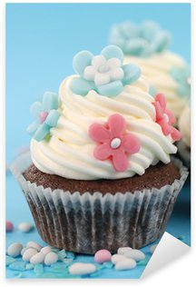 Pixerstick Sticker Cupcake fiori