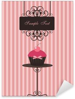 Pixerstick Sticker Cupcake ontwerp