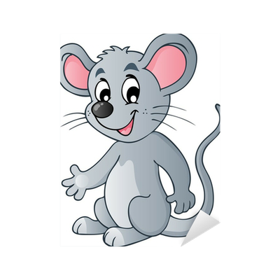 Cute cartoon mouse Sticker • Pixers® • We live to change