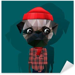 Sticker - Pixerstick Cute fashion Hipster Animal, pet, vector Eps10 image.