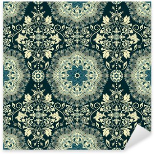 Damask seamless pattern Sticker - Pixerstick
