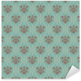 Sticker - Pixerstick damask wallpaper, red, vintage design, vector