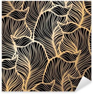 Sticker Pixerstick Damassé motif floral. Papier peint royal