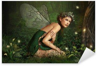 Sticker Pixerstick Dans la forêt de féerie