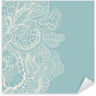 Decorative element border. Abstract invitation card. Template wa Sticker - Pixerstick