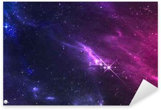 Deep space. Vector illustration of cosmic nebula with star cluster. Sticker - Pixerstick