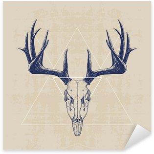 Pixerstick Sticker deer skull