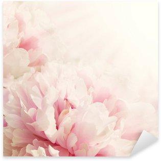 Pixerstick Sticker Defocus Close-up van pioenroos bloem