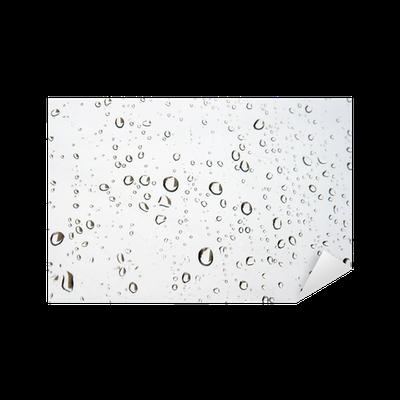 sticker des gouttes de pluie sur la fen tre verre pixers nous vivons pour changer. Black Bedroom Furniture Sets. Home Design Ideas
