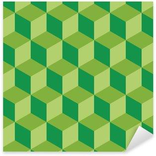 Sticker Pixerstick Design plat motif carré géométrique fond illustration vectorielle