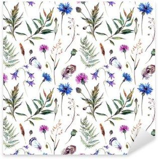 Sticker Pixerstick Dessinés à la main fleurs à l'aquarelle