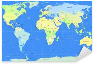 World map sticker pixers we live to change detailed vector political world map pixerstick sticker gumiabroncs Images
