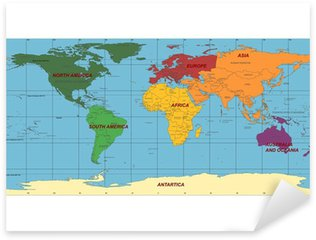 Vector world map sticker pixers we live to change detailed world map with names of continent and countries vector pixerstick sticker gumiabroncs Images