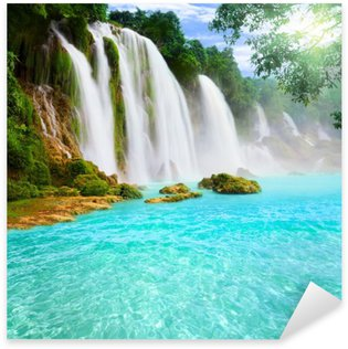 Sticker - Pixerstick Detian waterfall