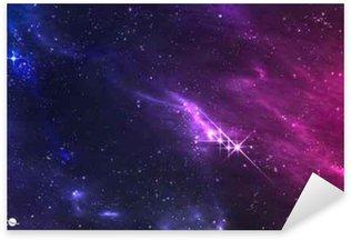 Pixerstick Sticker Diepe ruimte. Vector illustratie van de kosmische nevel met ster cluster.