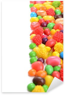 Different colorful fruit candy close-up Sticker - Pixerstick