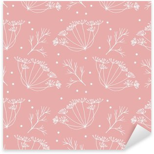 Dill or fennel flowers and leaves pattern. Sticker - Pixerstick
