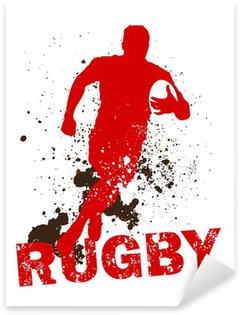 Dirty Rugby Player Sticker - Pixerstick