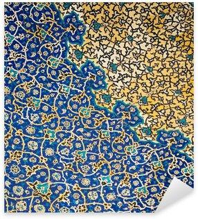 Sticker Pixerstick Dôme de la mosquée, ornements orientaux de Isfahan, Iran