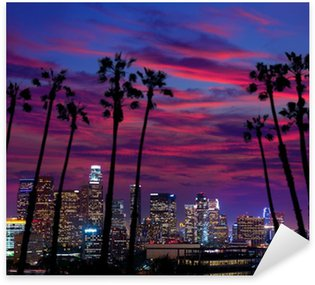 Pixerstick for All Surfaces Downtown LA night Los Angeles sunset skyline California
