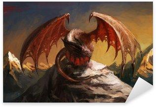 Sticker Pixerstick Dragon de montagne