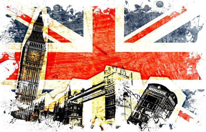 Sticker - Pixerstick drapeau anglais decoupe -