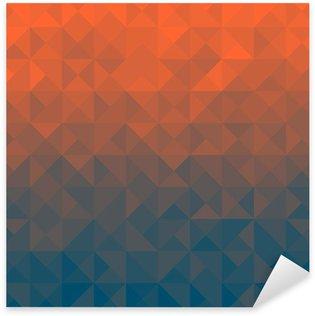 Pixerstick Sticker Driehoek achtergrond