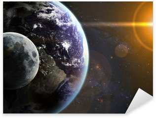 Sticker - Pixerstick Earth in space. Elements of this image furnished by NASA