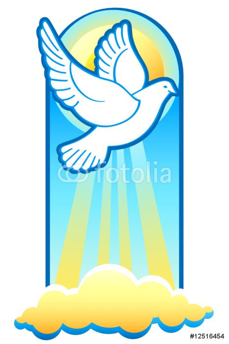 Easter Dove Is The Holy Spirit Christian Trinity Symbol Sticker