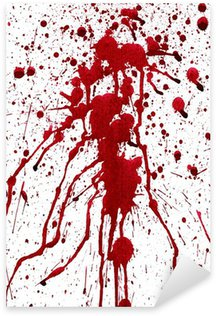 Sticker Pixerstick Éclaboussures sanglantes