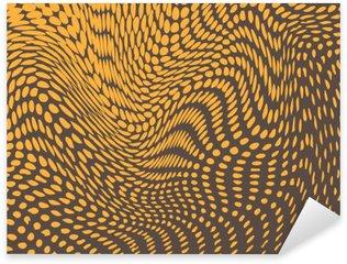 Sticker Pixerstick Effet Halftone déformée en renflements et des vagues. Reptile ressemblance de la peau. Vecteur de fond