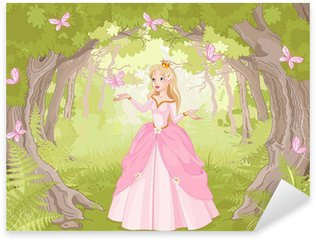 Sticker Pixerstick En vous promenant dans le bois princesse fantastique